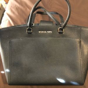Michael Kors Black purse with 2 sets of straps
